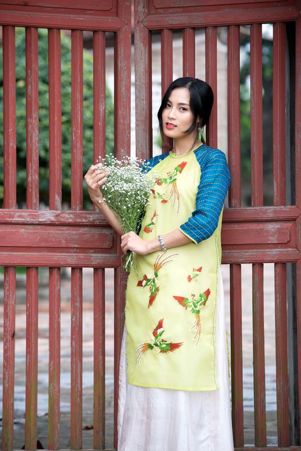 Ngọc Anh - một trong ba nữ diễn viên chính của Thương nhớ ở ai.
