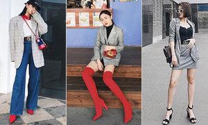 Blazer kẻ caro 'lấy lòng' tín đồ thời trang Việt