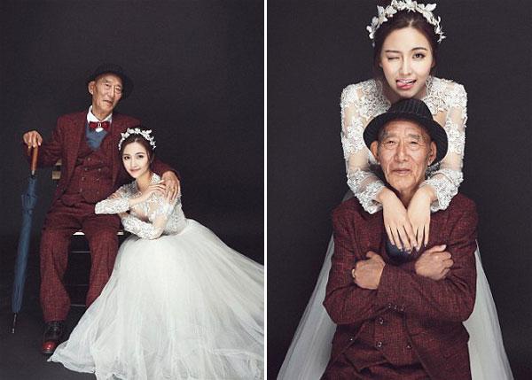 Fu xinh đẹp rạng ngời trong bộ ảnh bên ông nội.