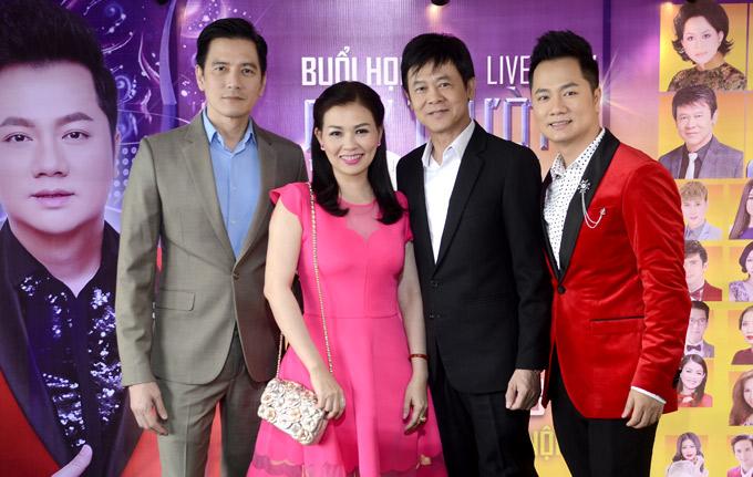 MC Quỳnh Giang, nghệ sĩ Thái Châu và Duy Hân - bạn trai Kỳ Duyên dự họp báo giới thiệu liveshow của Duy Trường.