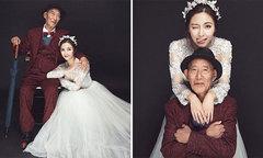 Cô gái FA chụp ảnh cưới giúp ông nội hoàn thành tâm nguyện