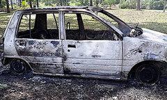 Đòi mua ôtô mới không được, vợ đốt xe cũ của chồng