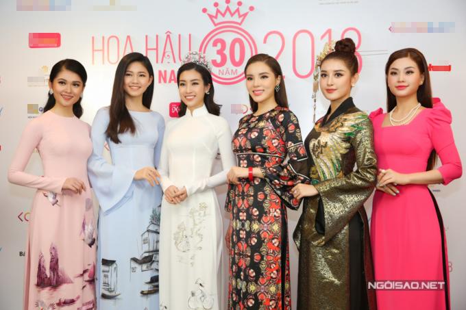 Đỗ Mỹ Linh, Kỳ Duyên đọ sắc tại họp báo kỷ niệm 30 năm Hoa hậu Việt Nam - 6