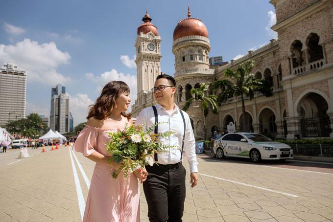 Ảnh cưới lãng mạn của cô dâu Việt và chú rể Malaysia - 2