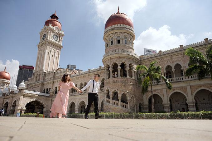 Ảnh cưới lãng mạn của cô dâu Việt và chú rể Malaysia - 3