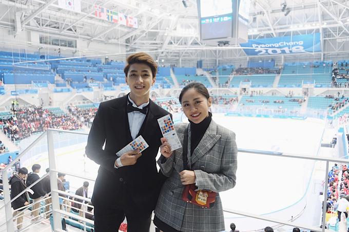 Cả hai dành buổi tối đi xem trận hockey trên bănggiữa hai đội tuyển Nhật Bản và CH Czech trong khuôn khổ PyeongChang 2018 Paralympic Winter Games.