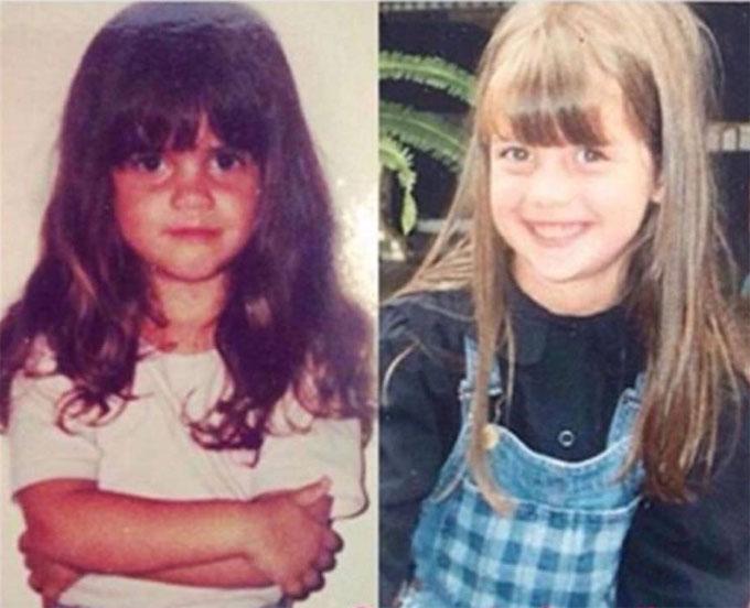 Hai chị em Wanda và Zaira Nara khi còn nhỏ. Ảnh: NS.