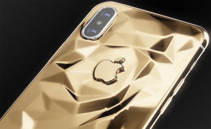 iPhone X gắn vàng giá đắt hơn bản gốc 5 lần - 1