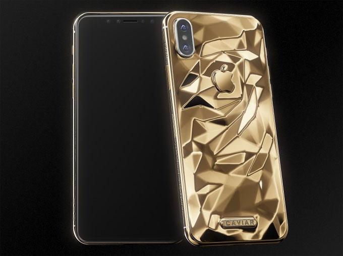 Phiên bản Classic Liquid Gold của iPhone X từ Caviar. Ảnh: NS.
