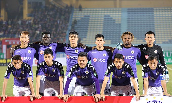 CLB Hà Nội với nhiều cầu thủ trẻ như Quang Hải, Duy Mạnh, Đình Trọng đã nhiều năm chinh chiến ở V-League. Ảnh: Văn Đương.