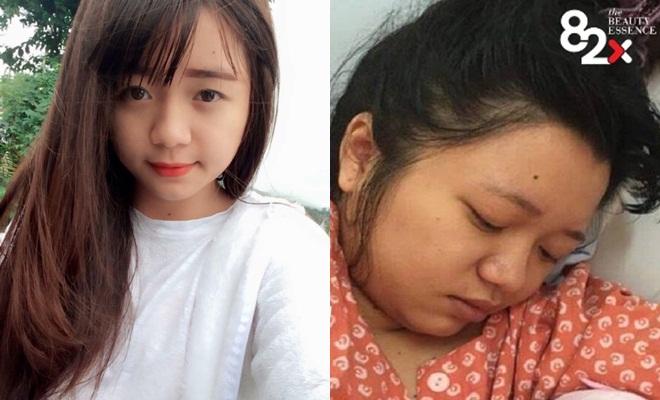 Phương Vy trước và sau khi làm mẹ.