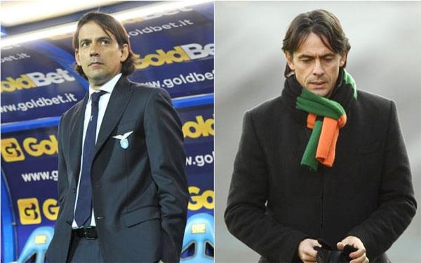 Simone và anh trai Filippo từng là bộ đôi tiền đạo nổi tiếng của Italy, nay đều theo nghiệp cầm quân.