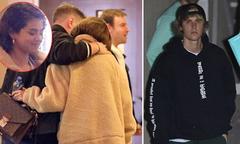 Selena Gomez khoác vai người bạn nam, né tránh Justin Bieber ở nhà thờ