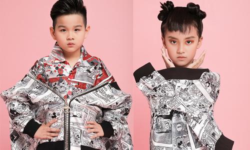 Hà Nhật Tiến mang họa tiết hoạt hình vào dòng thời trang trẻ em