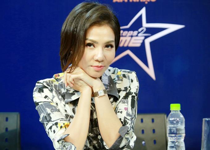 Sau thời gian im ắng, Thu Minh trôngđầy năng lượng khi trở lại ghế nóng một cuộc thi âm nhạc.