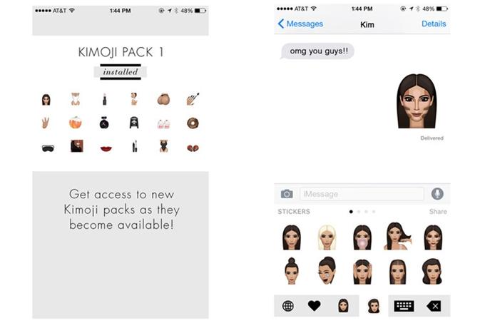 Ứng dụng Kimoji của Kim Kardashian.