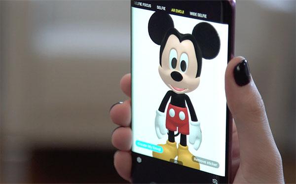 Galaxy S9 và S9+ có bộ biểu tượng cảm xúc AR Emoji từ Disney