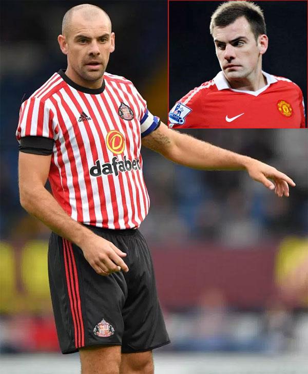 Gibson từng khoác áo MU 8 năm, hiện là cầu thủ của đội hạng nhất Sunderland. Ảnh: Sun.