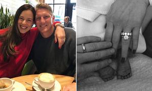 Vợ chồng Schweinsteiger - Ivanovic đón con trai đầu lòng