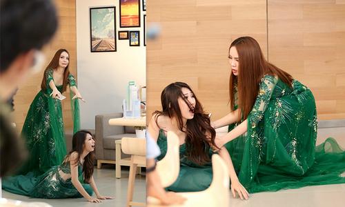 Yến Trang xô ngã Khổng Tú Quỳnh vì ganh ghét trong phim