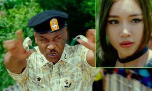 Elly Trần tái mặt khi bị Mike Tyson hù dọa