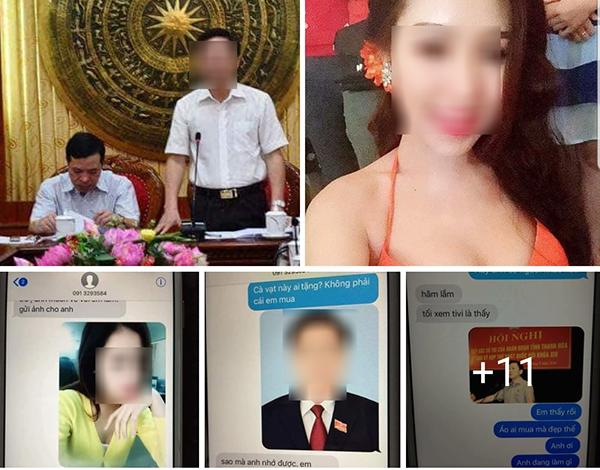 Nhiều hình ảnh cá nhân lãnh đạo tỉnh Thanh Hoá và hot girl được đăng tải trên mạng xã hội. Ảnh chụp màn hình.