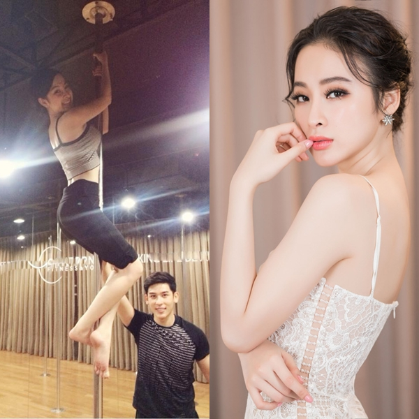 Thời tham dự Bước nhảy hoàn vũ, Angela Phương Trinh đã rất tích cực tập múa cột và khiêu vũ.
