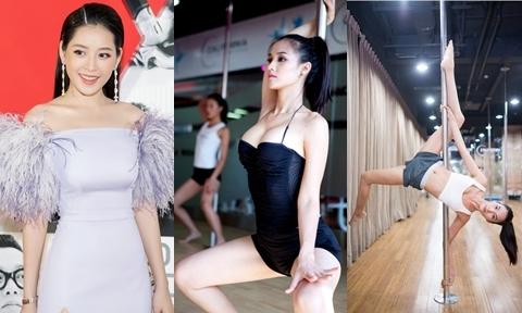 Chi Pu và dàn mỹ nhân Việt tích cực tập múa cột giữ dáng