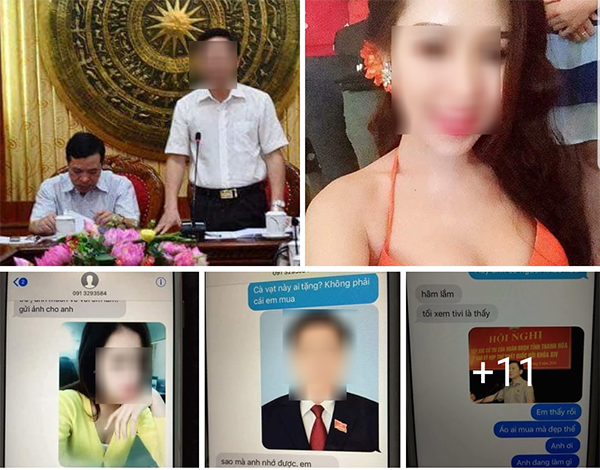 Hình ảnh và tin nhắn được cho là nguỵ tạo để vu khống lãnh đạo tỉnh Thanh Hoá lan truyền trên mạng xã hội.
