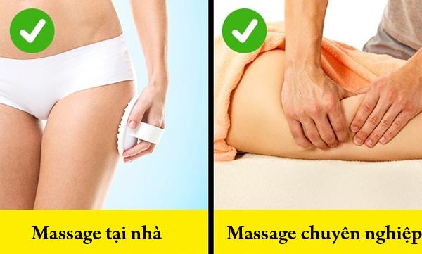 Massage là phương pháp trị da sần rất hữu hiệu. Bạn có thể tự massage tại nhà với đá kỳ hoặc cọ massage. Nếu có điều kiện, nên tìm đến các dịch vụ massage chuyên nghiệp để cải thiện tình trạng da hiệu quả hơn.
