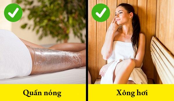 Các liệu pháp làm đẹp như xông hơi, quấn nóng được khuyến khích sử dụng vì nó cải thiện tình trạng da sần vỏ cam rất hiệu quả.