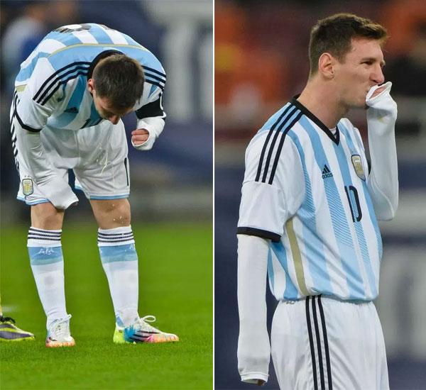 Tiền đạo Argentina bị trong một trận đấu với Romania 4 năm trước.