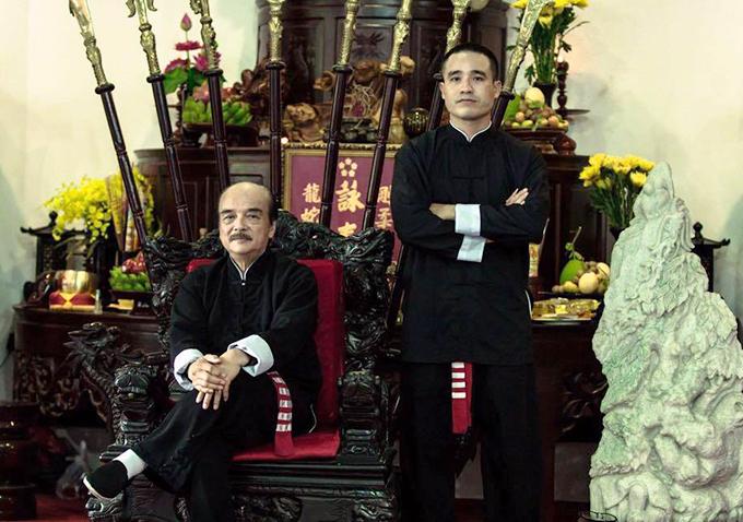 Võ sư Nam Anh Kiệt và sư phụ Nam Anh. Ảnh: FB.