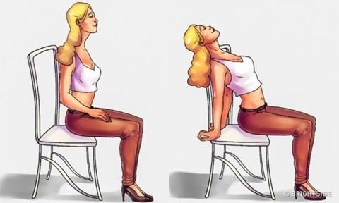 6 động tác giúp cổ và lưng thư giãn như vừa được massage