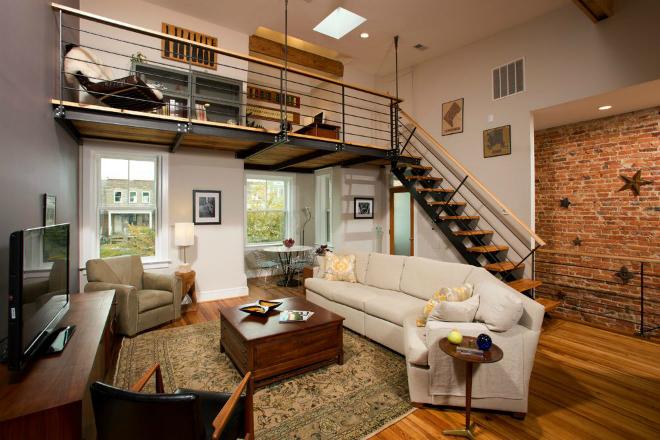 Thiết kế tầng Loft (tầng lửng):Loftkhông còn xa lạ với những căn hộ nhỏ, cao trên 3,4m. Tầng lửng có thể dùng làm phòng ngủ trên cao, nơi làm việc hoặc khu vui chơi của bé.Ảnh:syonpress