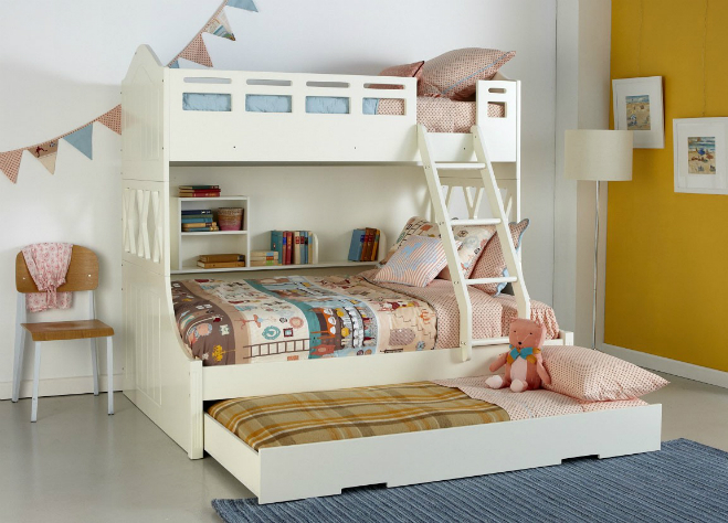 Giường ngủ 2 tầng: Ảnh:Pinterest