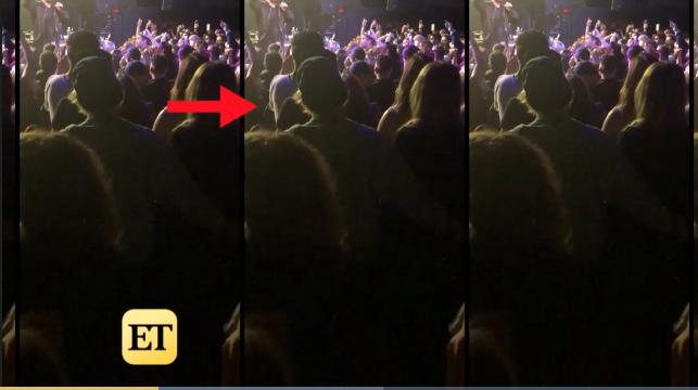 Trong khi xem biểu diễn, Justin ôm eo Baskin và nhảy cùng nhau.
