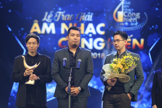 Ngoài Mỹ Tâm, ban nhạc Ngọt cũng giành cú đúp với hai giải Ca khúc của năm cho Em dạo này và Nghệ sĩ mới của năm.