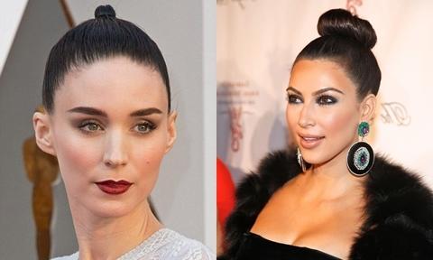Mẹo tạo kiểu búi tóc tròn như Kim Kardashian