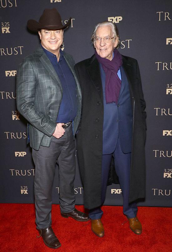 Brendan tren thảm đỏ ra mắt phim Trust hồi tháng 2.