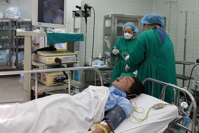 Một bệnh nhân nguy kịch đang ở bệnh viện Chợ Rẫy.