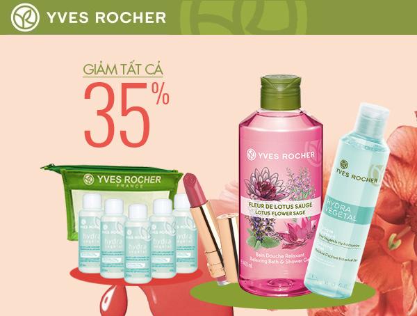 Nhiều thương hiệu mỹ phẩm khác như Yves Rocher cũng giảm tất cả 35% tại đây.