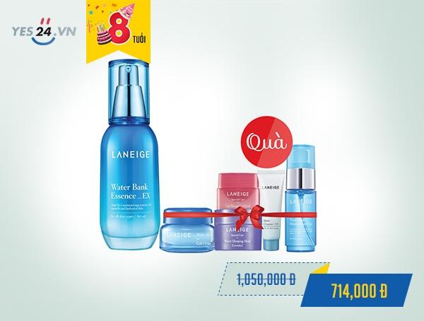Tinh chất dưỡng ẩm cho làn da mềm mượt Laneige Water Bank Essence Ex - 60ml - giá 714.000 đồng.