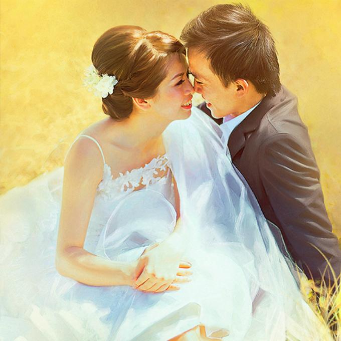 Ảnh cưới Digital painting: Vừa nghệ thuật lại không đụng hàng - 1