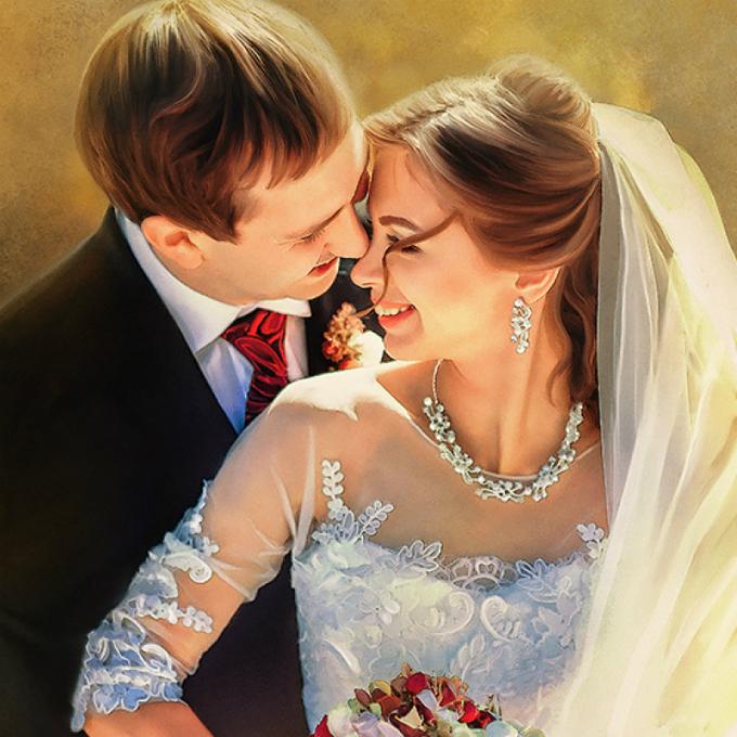Ảnh cưới Digital painting: Vừa nghệ thuật lại không đụng hàng - 2