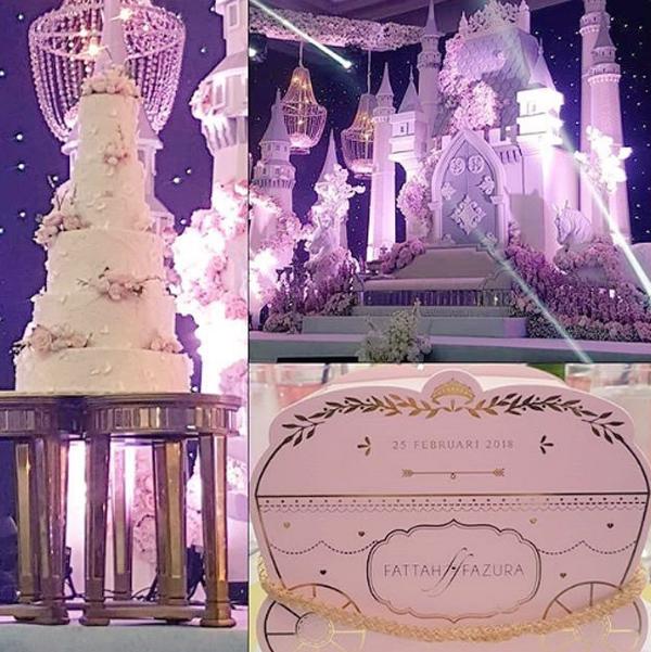 Mọi chi tiết trong tiệc cưới từ hoa tươi, bánh cưới, bảng tên cô dâu - chú rể đều được thiết kế theo phong cách lãng mạn, ngọt ngào.