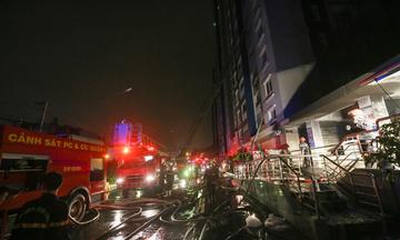 Cháy chung cư Carina ở Sài Gòn