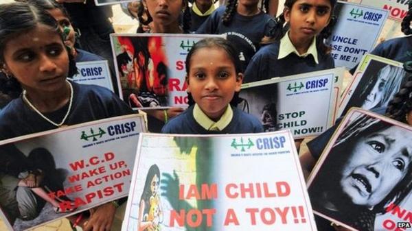 Ấn Độ là một trong những nước có tỷ lệ phụ nữ và trẻ em bị cưỡng hiếp nhiều nhất thế giới. Ảnh: EPA