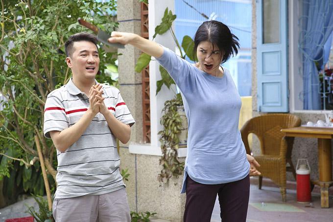 Hoài Lâm sợ chết khiếp trước mẹ vợ Trang Trần trong phim mới - 6