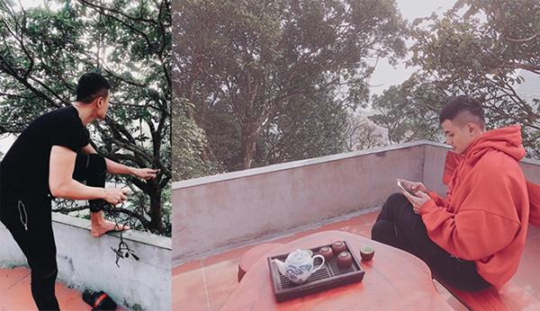 Tháng 2/2018, Hoàng Thùy Linh chia sẻ bức ảnh chụp bạn trai từ đằng sau khi về Vĩnh Phúc ăn Tết Nguyên đán cùng bố mẹ. Vĩnh Thụy cũng khoe ảnh check-in tại đây. Dù Hoàng Thùy Linh và Vĩnh Thụy chưa một lần lên tiếng xác nhận về chuyện tình cảm nhưng đã có rất nhiều fan gửi lời chúc phúc đến cặp đôi. Trong cuốn tự truyện Vàng Anh và Phượng Hoàng vừa xuất bản của mình, Hoàng Thùy Linh nhắc đến những mối tình đã qua và không đả động gì đến chuyện yêu Vĩnh Thụy. Tuy nhiên, cô nhắc đến anh một cách trang trọng như một trong những người thân thiết, đã đồng hành với cô trong thời gian qua.
